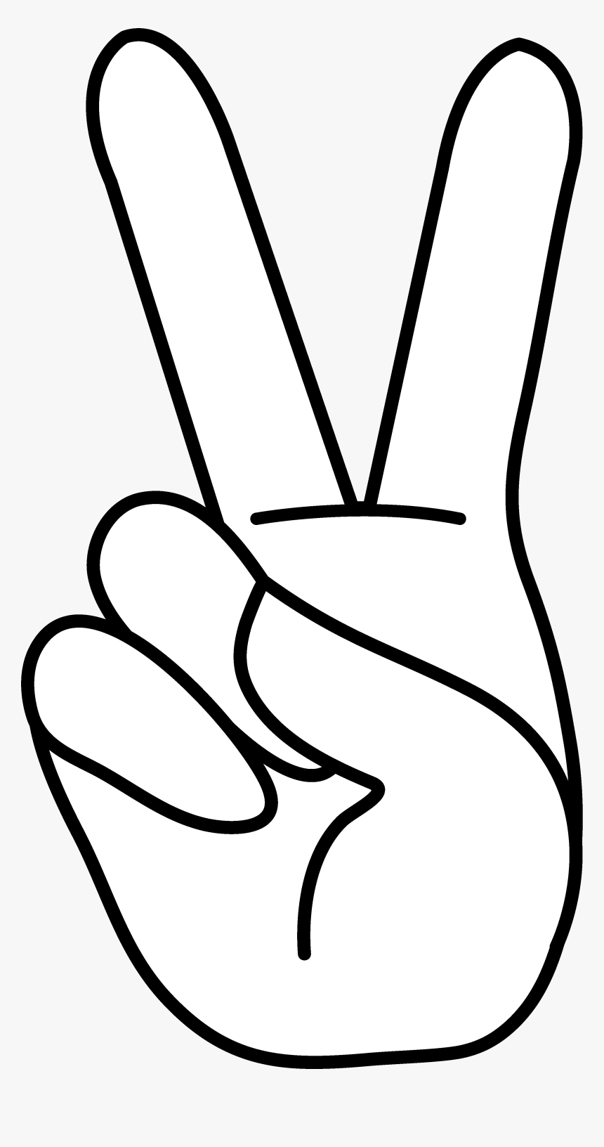 Hand Peace Sign Clipart, HD Png Download, Free Download
