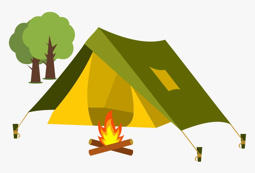 Tent Cartoon Camping Clip Art - Tent Camping Clipart, HD Png Download, Free Download
