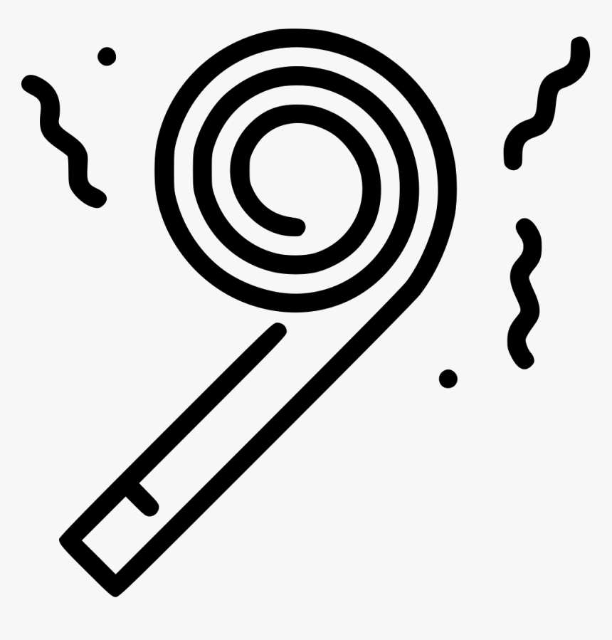 Party Whistle - Party Hat Icon Transparent, HD Png Download, Free Download