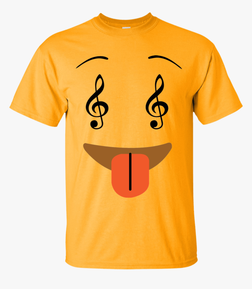 "Smile Face Music Notes Emoji Ultra Cotton T-shirt""  - Cute Monster Cartoon T Shirt, HD Png Download, Free Download"