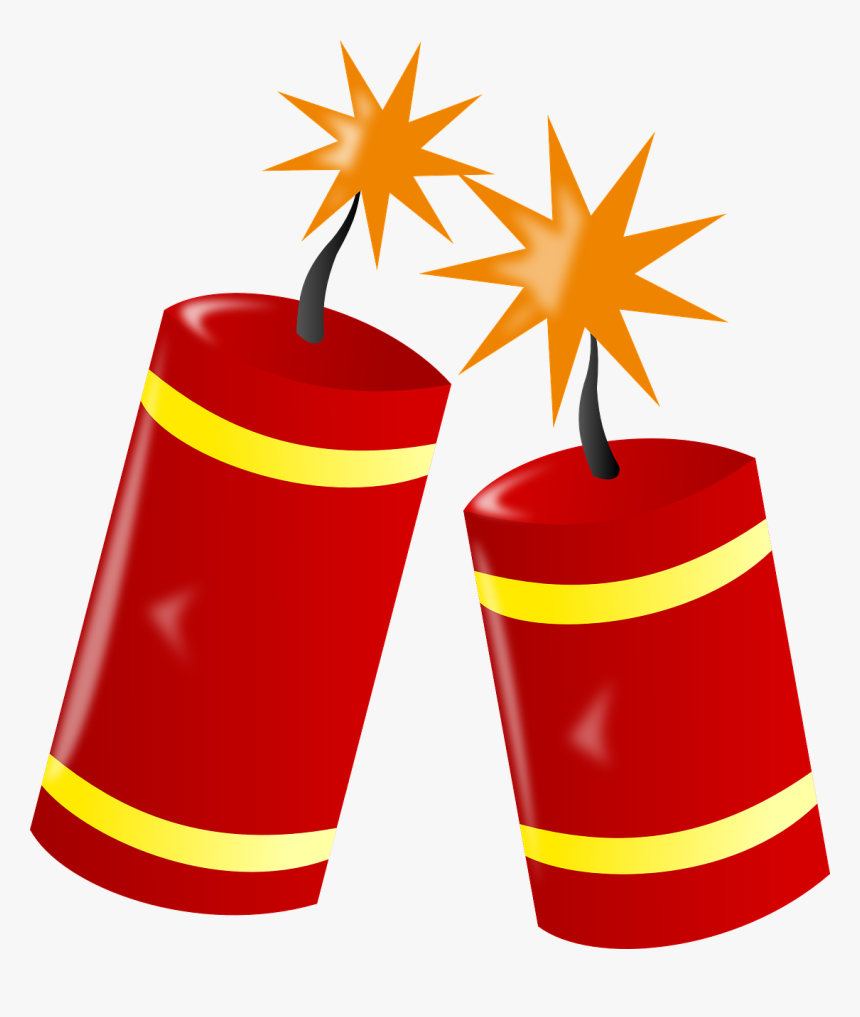 Fire Work, Dynamite, Burn, Red, Spark, New Year, Danger - Clip Art Fire Crackers, HD Png Download, Free Download