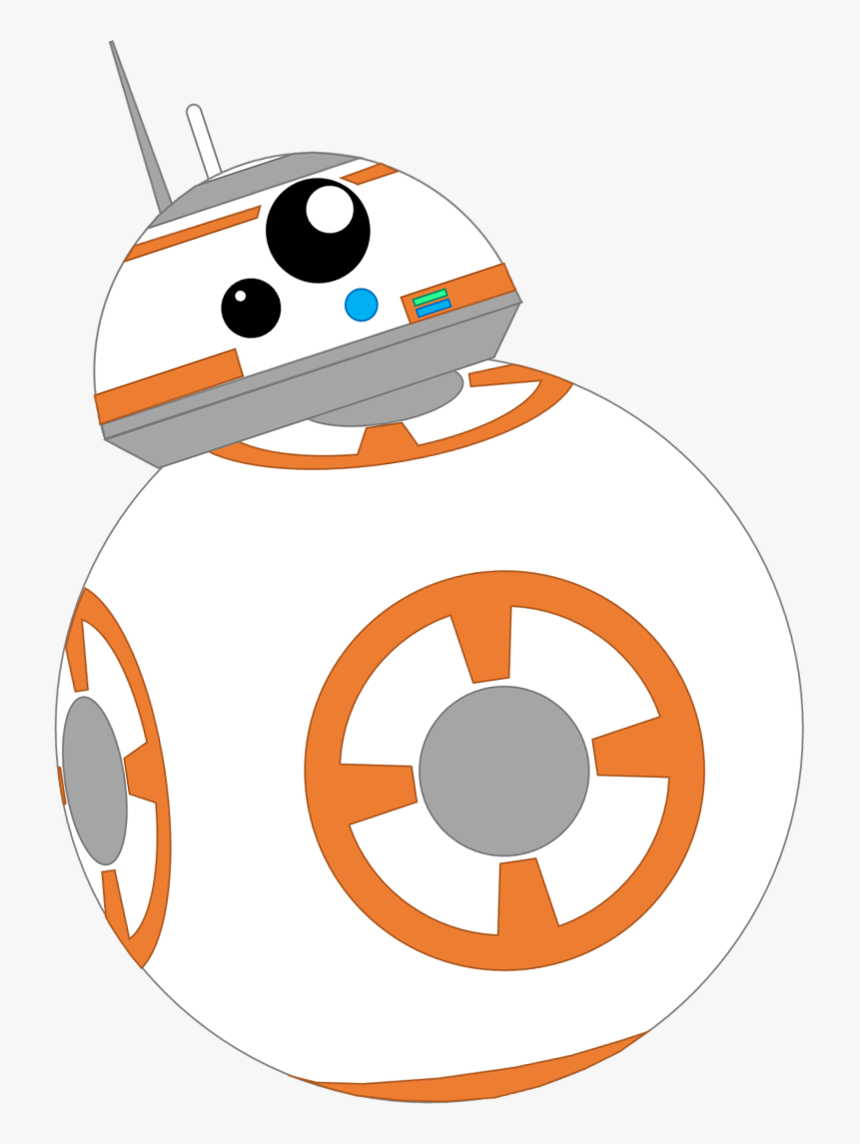 Bb 8 C 3po R2 D2 Battle Droid - Bb8 Star Wars Vector, HD Png Download, Free Download