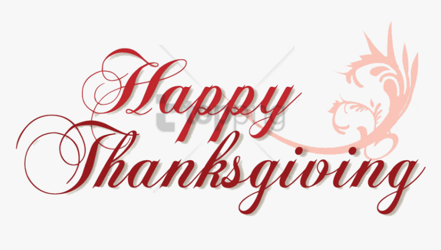 Free Png Download Happy Thanksgiving Transparent Background - Happy, Png Download, Free Download