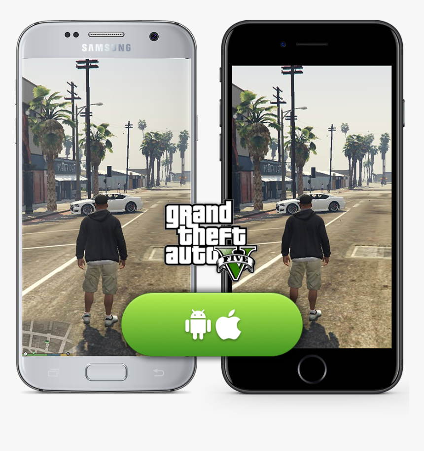 Gta 5 Mobile Pw - Download Gta V In Mobile, HD Png Download, Free Download