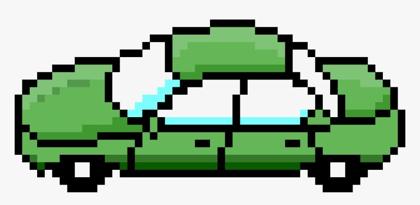 Pixel Car Green Side Clip Arts - Transparent 8 Bit Car, HD Png Download, Free Download