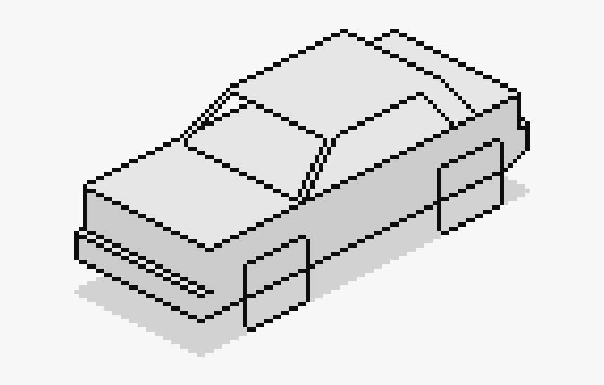 Pixels Drawing Car - Coches Cuadrados Para Dibujar, HD Png Download, Free Download