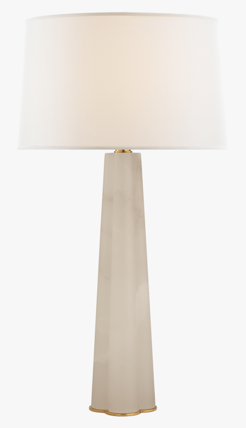 Adeline Large Quatrefoil Table Lamp In Alabaster With - Lampshade, HD Png Download, Free Download