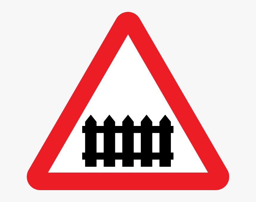 Train Crossing Traffic Sign - Railway Crossing Road Sign, HD Png Download, Free Download