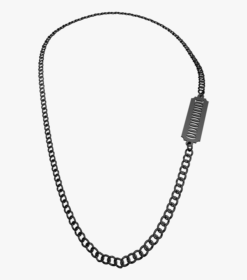 Transparent Black Chain Png - Necklace Chain Sterling Silver, Png Download, Free Download