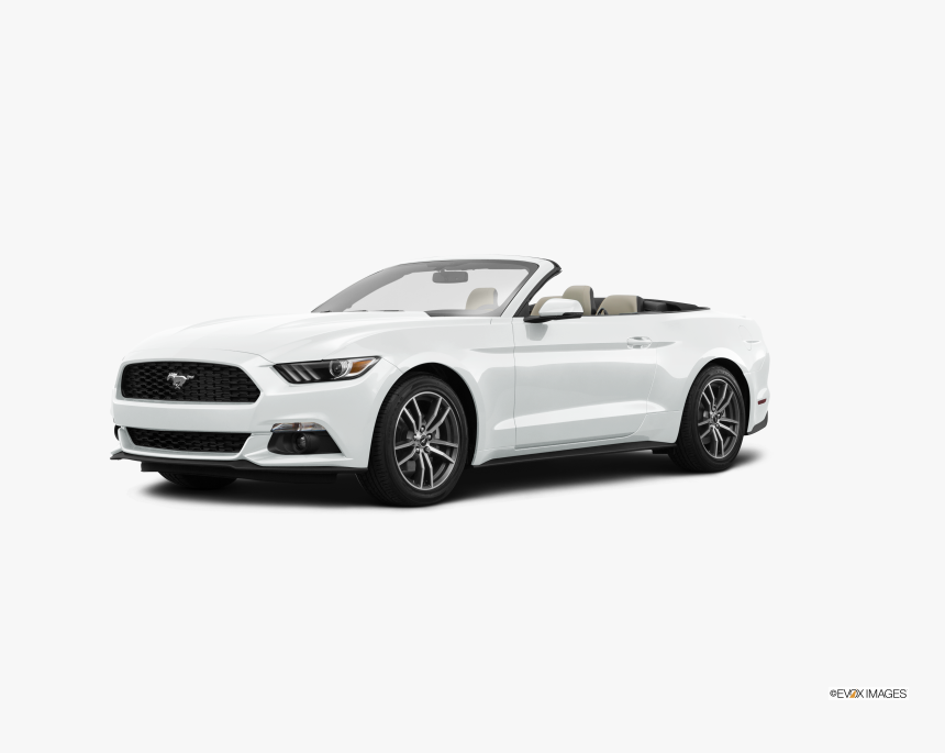 2017 Ford Mustang White Convertible, HD Png Download, Free Download