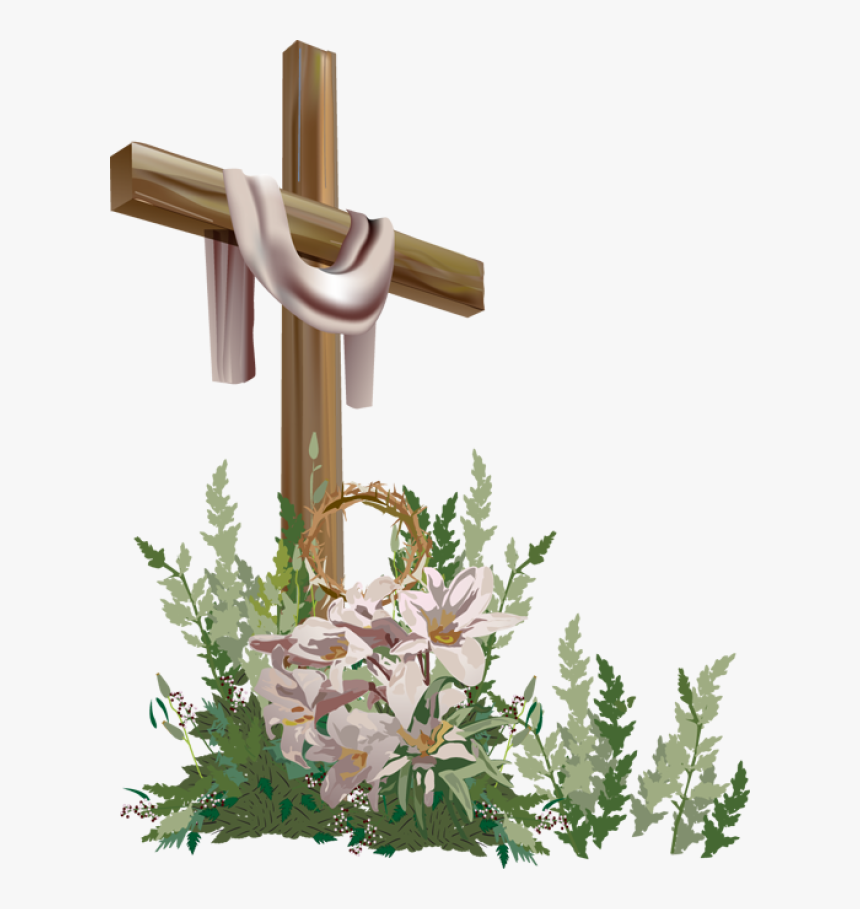 free easter cross clipart - religious easter clipart, hd png download -  kindpng  kindpng