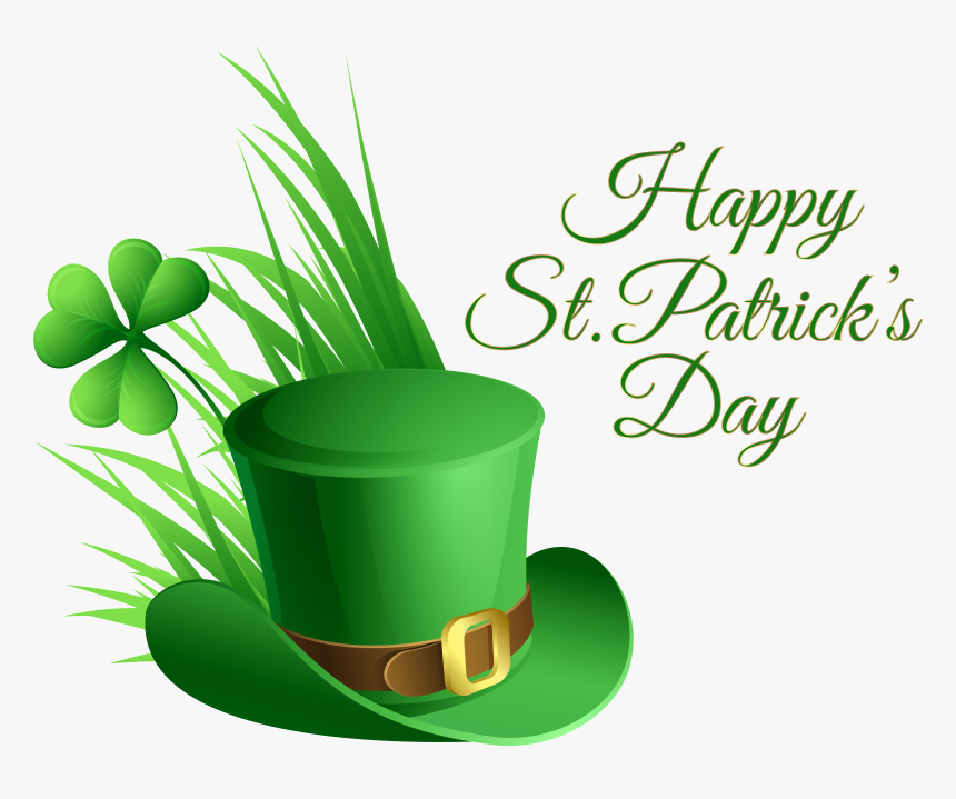 St Patricks Day Hat And Shamrock Transparent Png Clip - St Paddy's Day 2018, Png Download, Free Download