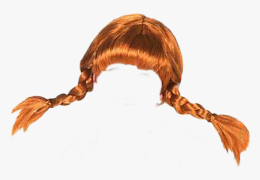 Transparent Pigtail Hair Clipart - Pippi Longstocking Wig, HD Png Download, Free Download