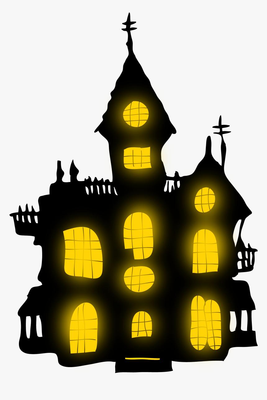 Hd Transparent Castle Spooky - Clip Art Transparent Background Halloween, HD Png Download, Free Download