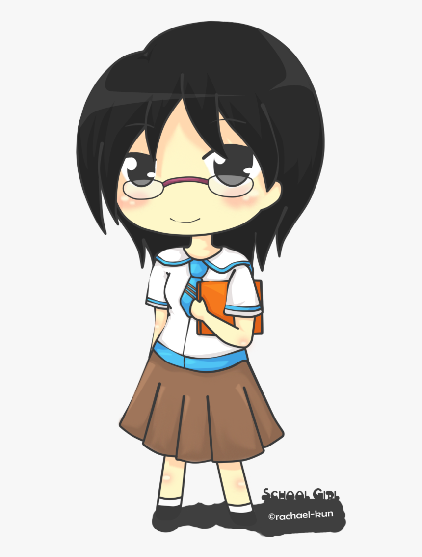 Collection Of Free Drawing Scool Chibi Download On - Anime Chibi School Girl, HD Png Download, Free Download