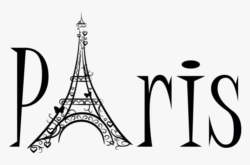 Eiffel Tower Sticker Clip - Paris Tipografia, HD Png Download, Free Download