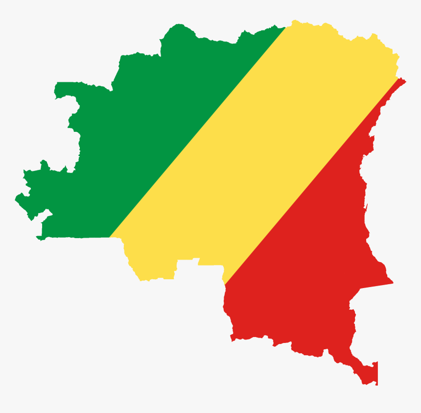 Flag Map Of Greater Congo - Flag Map Of Congo, HD Png Download, Free Download