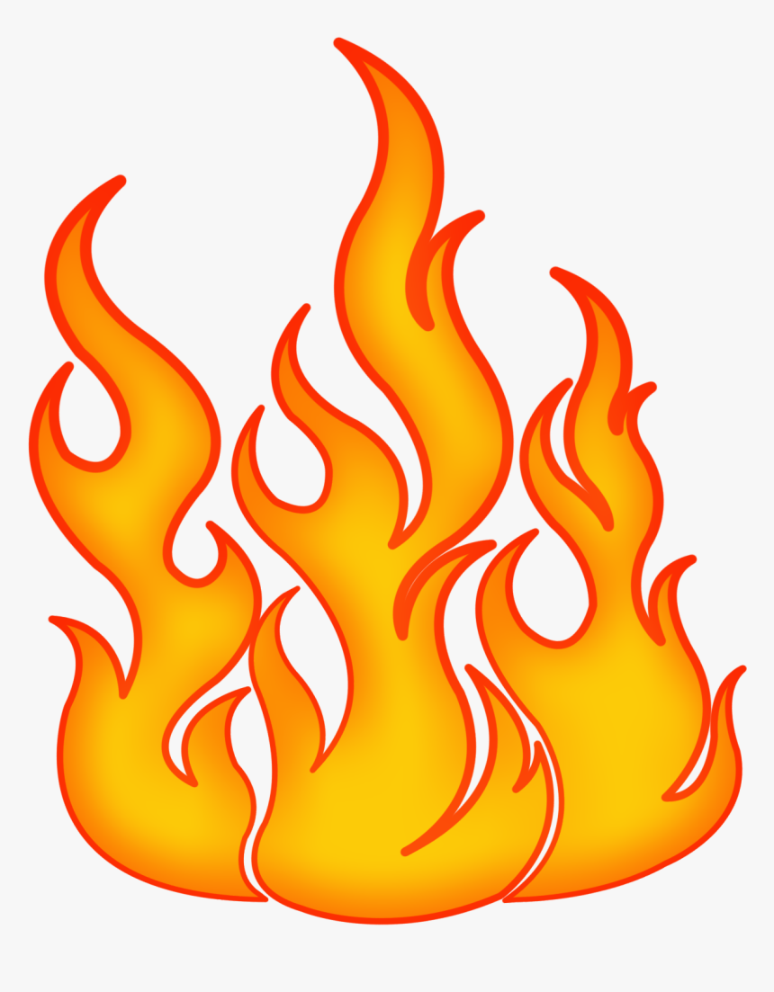 Transparent Realistic Fire Flames Clipart - Drawing Fire Flames, HD Png Download, Free Download