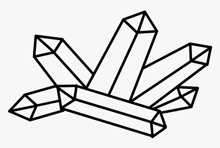 Diamond Clipart Line Drawing Rocks And Minerals Drawings Hd Png