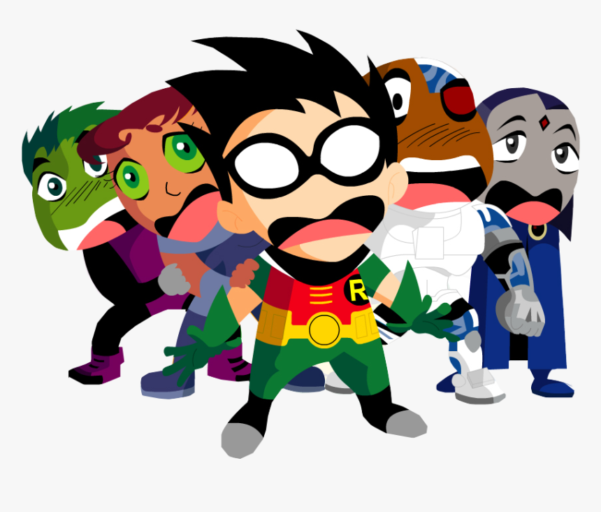 Cyborg, Raven, And Robin Image - Teen Titans Go Wallpaper Png, Transparent Png, Free Download