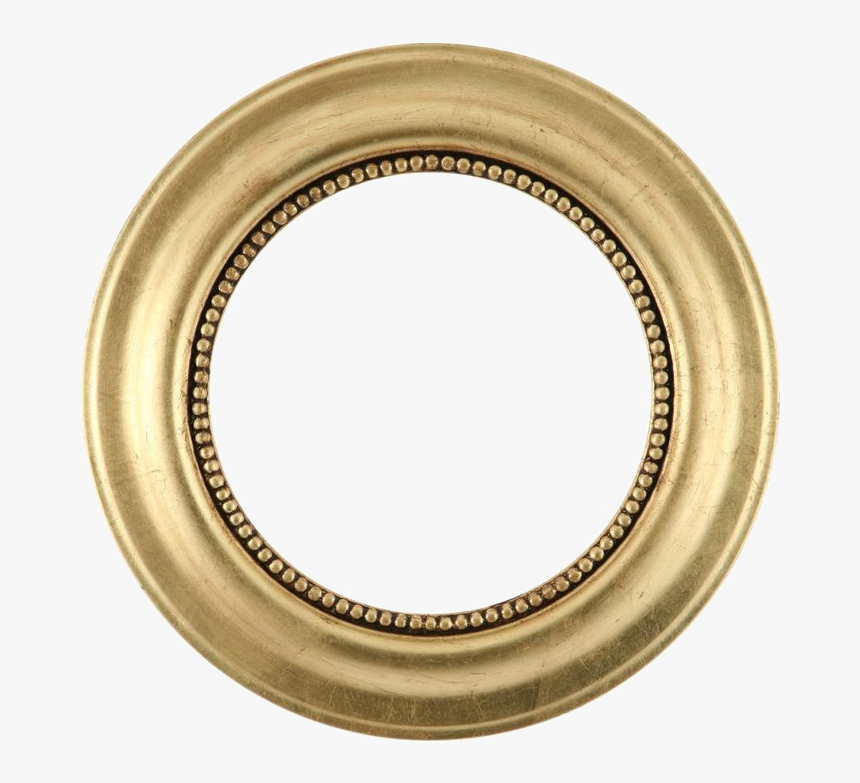 Picture Frame Mirror Gold Leaf Circle - 22 Carat Gold Chain For Mens, HD Png Download, Free Download
