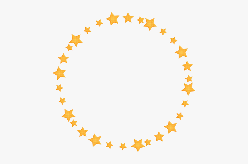 Golden Round Frame Png Pic - Gold Star Circle Png, Transparent Png, Free Download