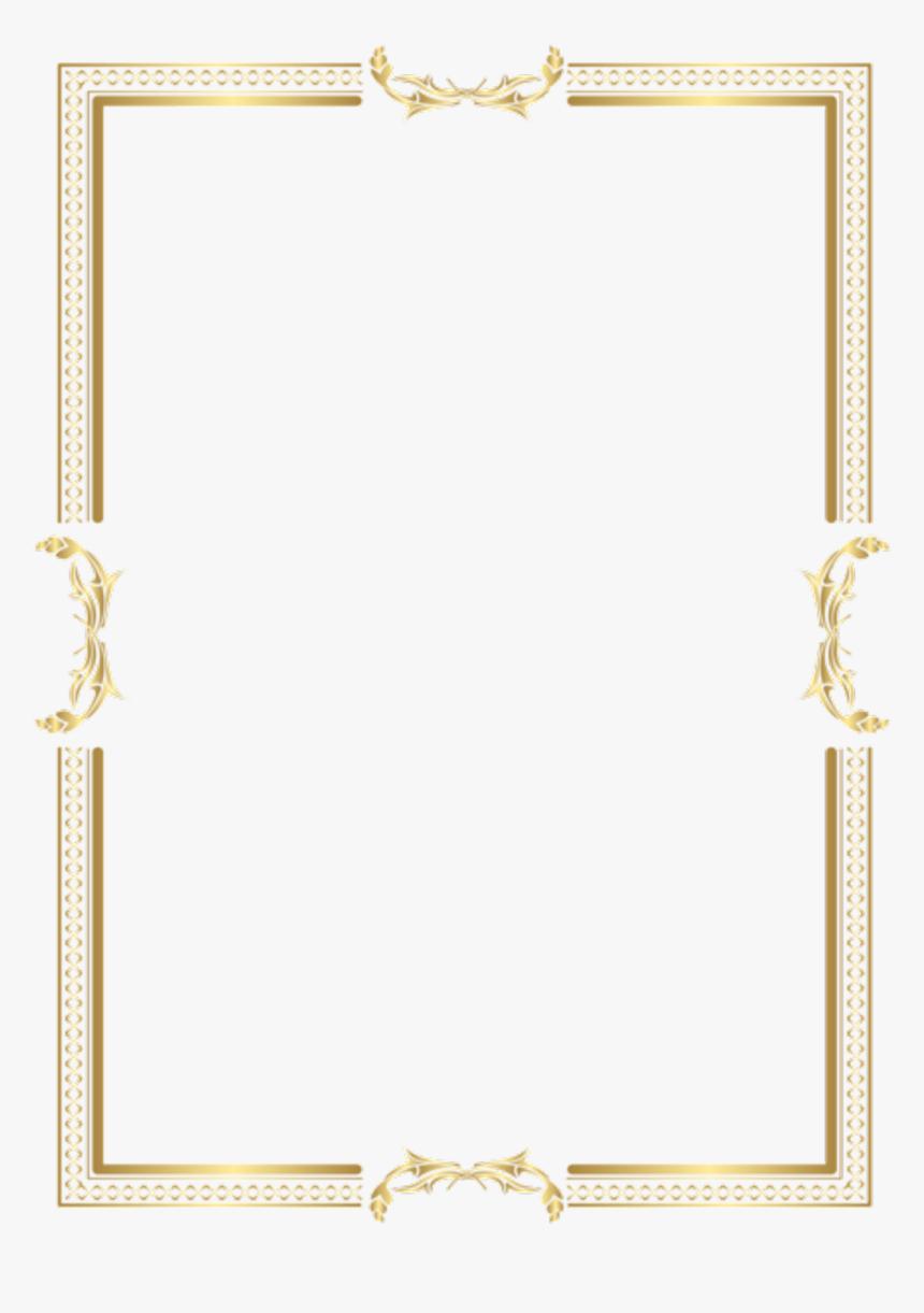 Gold Frame Border Png- - Transparent Gold Frame Border, Png Download, Free Download
