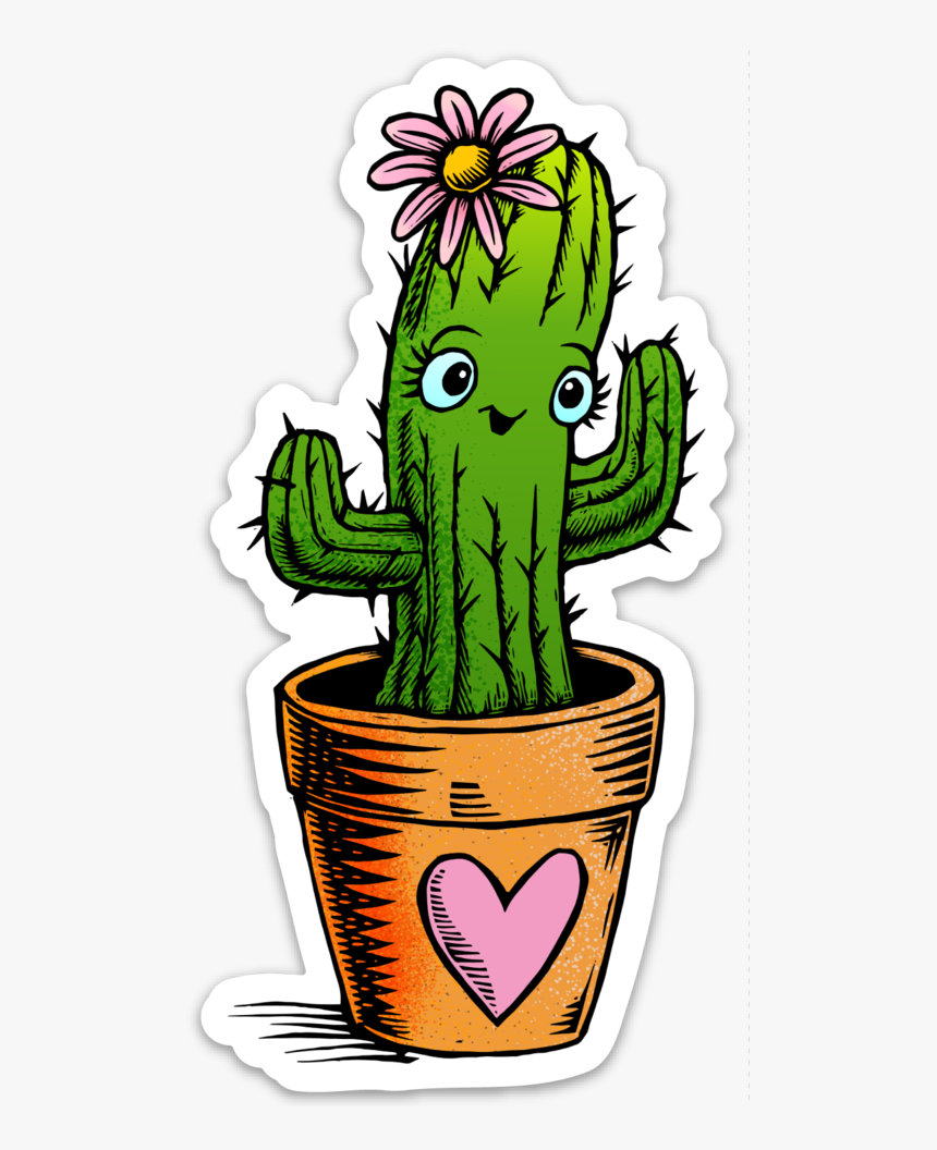 Cute Cactus Png - Transparent Cute Cactus Stickers, Png Download, Free Download