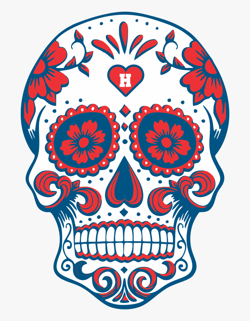Transparent Day Of The Dead Skull Png - Dia De Los Muertos Skull Png, Png Download, Free Download