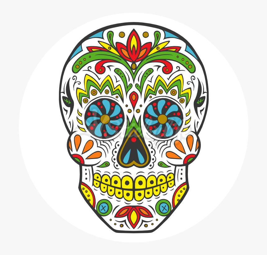 La Calavera Catrina Day Of The Dead Human Skull Symbolism - Transparent Background Sugar Skull Clipart, HD Png Download, Free Download