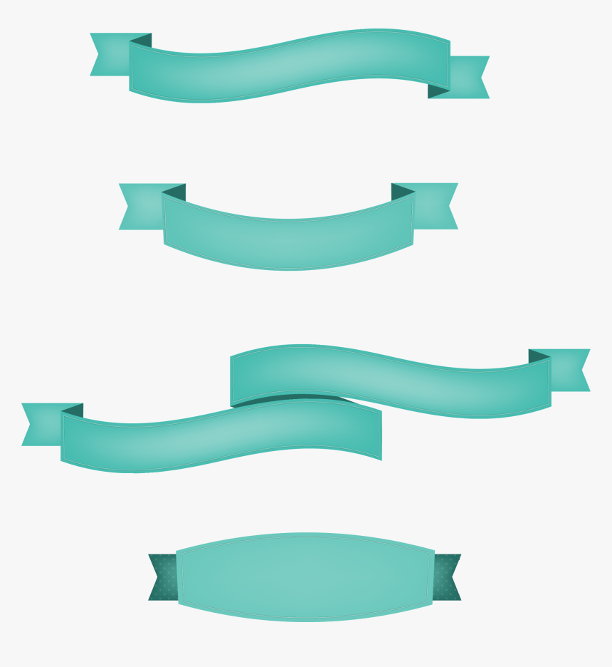 Transparent Teal Banner Png - Ribbon, Png Download, Free Download