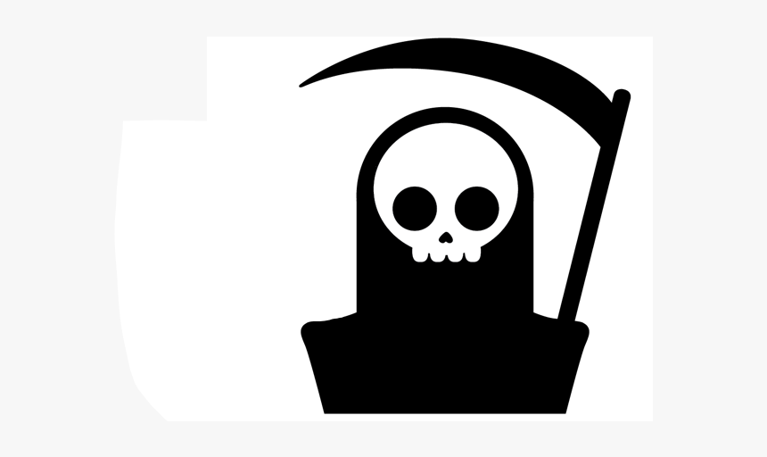 Death - Grim Reaper Skull Illustration, HD Png Download, Free Download