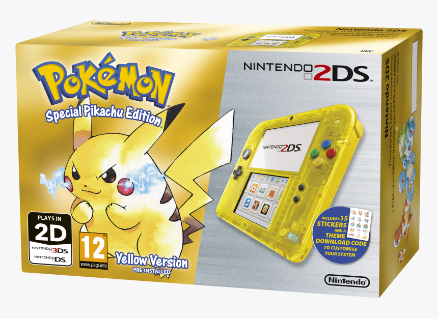 Nintendo 2ds Edicion Pikachu, HD Png Download, Free Download