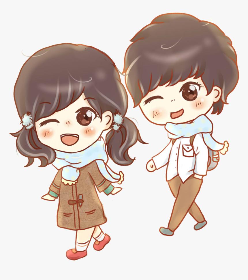 Boy And Girl Kiss Png Cartoon Boy Girls Imge Transparent Png Kindpng