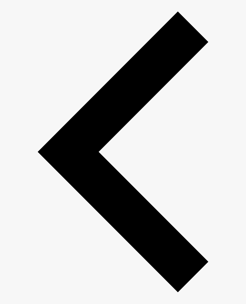 Left Arrow Small Right Angle - Back Arrow Png Icon, Transparent Png, Free Download