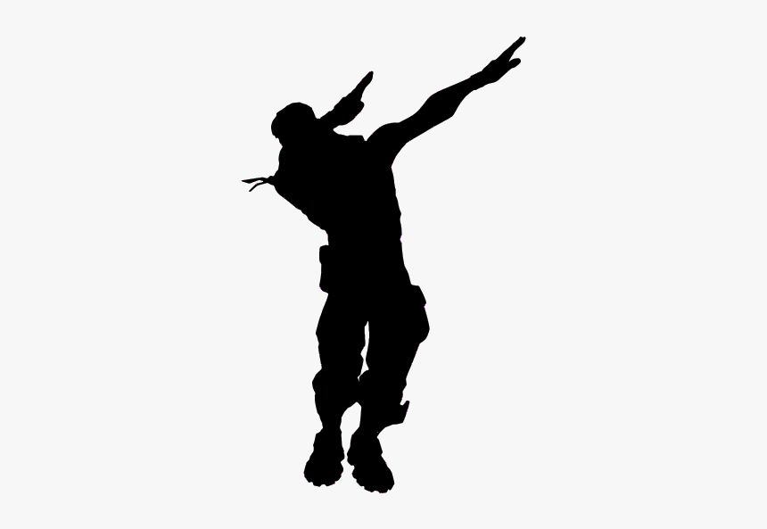 Fortnite Dance Moves Silhouette Hd Png Download Kindpng