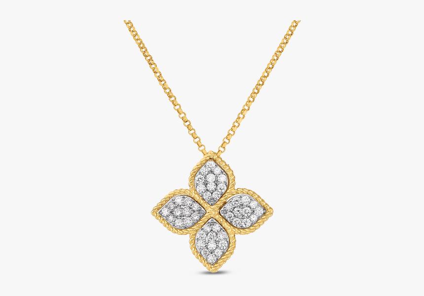Roberto Coin Princess Flower Diamond Pendant - Pendant, HD Png Download, Free Download