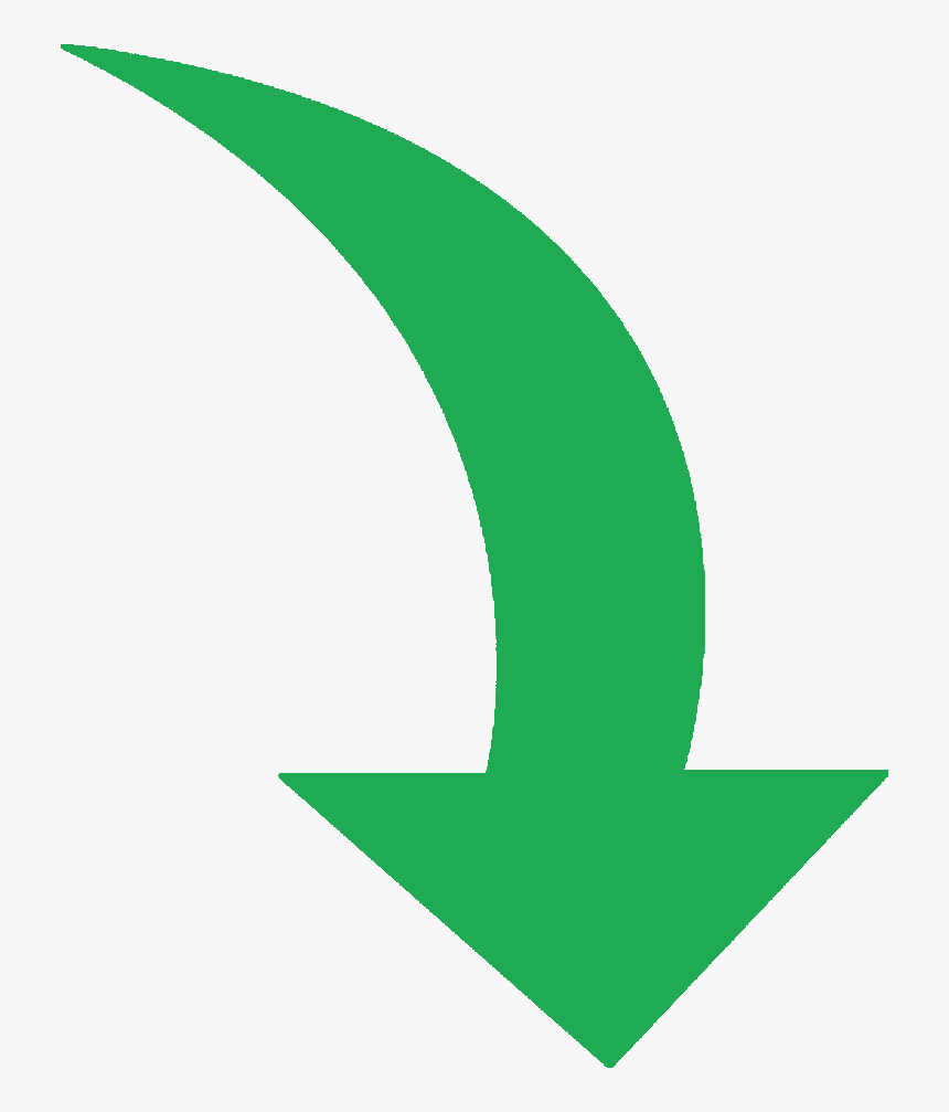 Services Green Curved Arrow Png - Green Curved Arrow Png, Transparent Png, Free Download