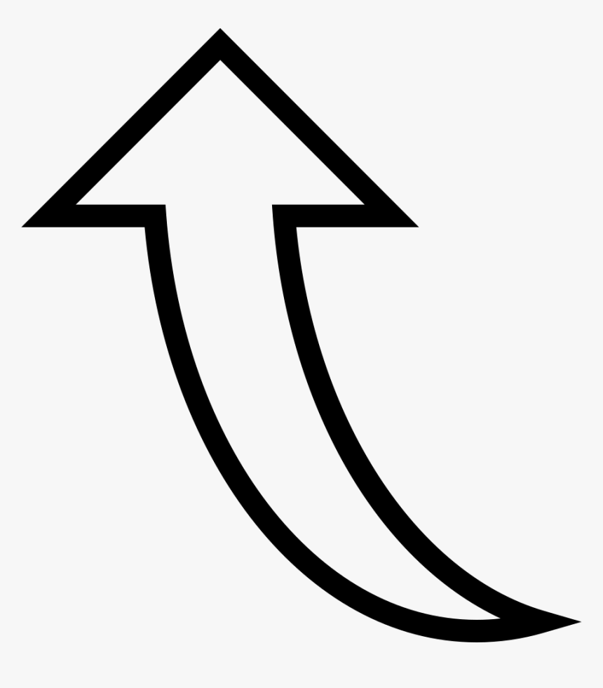Curved Arrow Pointing Up - Icon Arrow Pointing Up, HD Png Download, Free Download