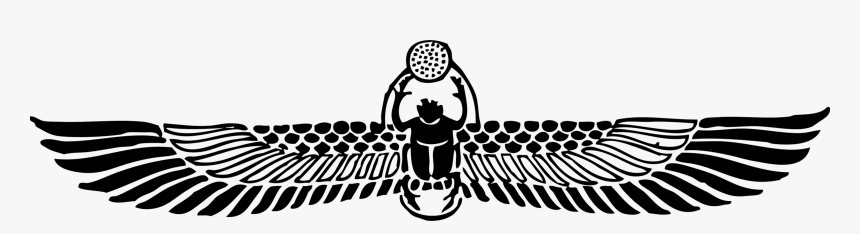 Symmetry,monochrome Photography,horse Like Mammal - Scarab Beetle Egypt Tattoo, HD Png Download, Free Download