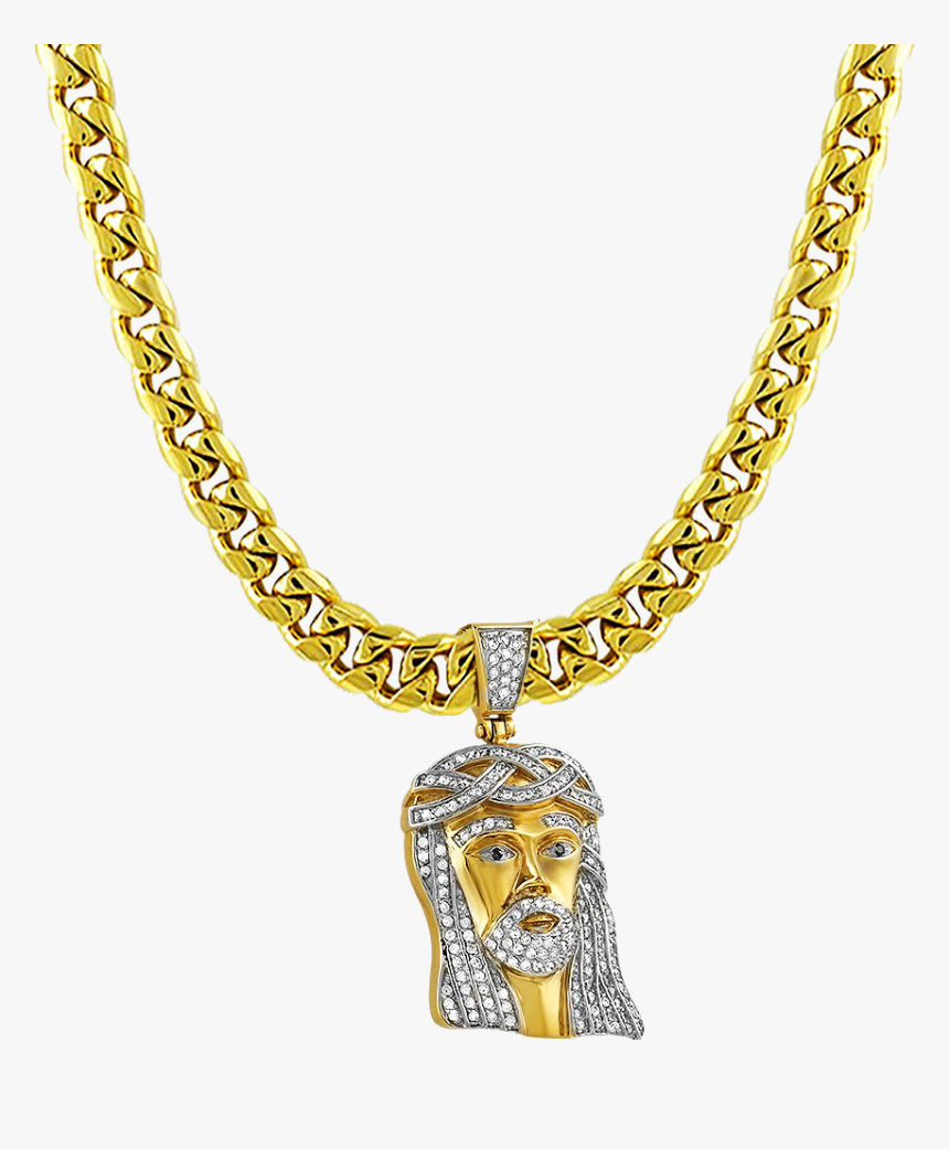 Necklace Gold Chain Jewellery Pendant - Chain Necklace Gold Png, Transparent Png, Free Download