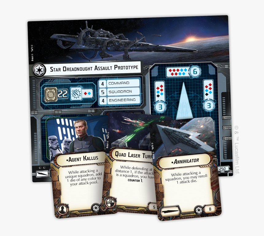 Swm20 A4 Upgrade Cards - Star Wars Armada Star Destroyer, HD Png Download, Free Download
