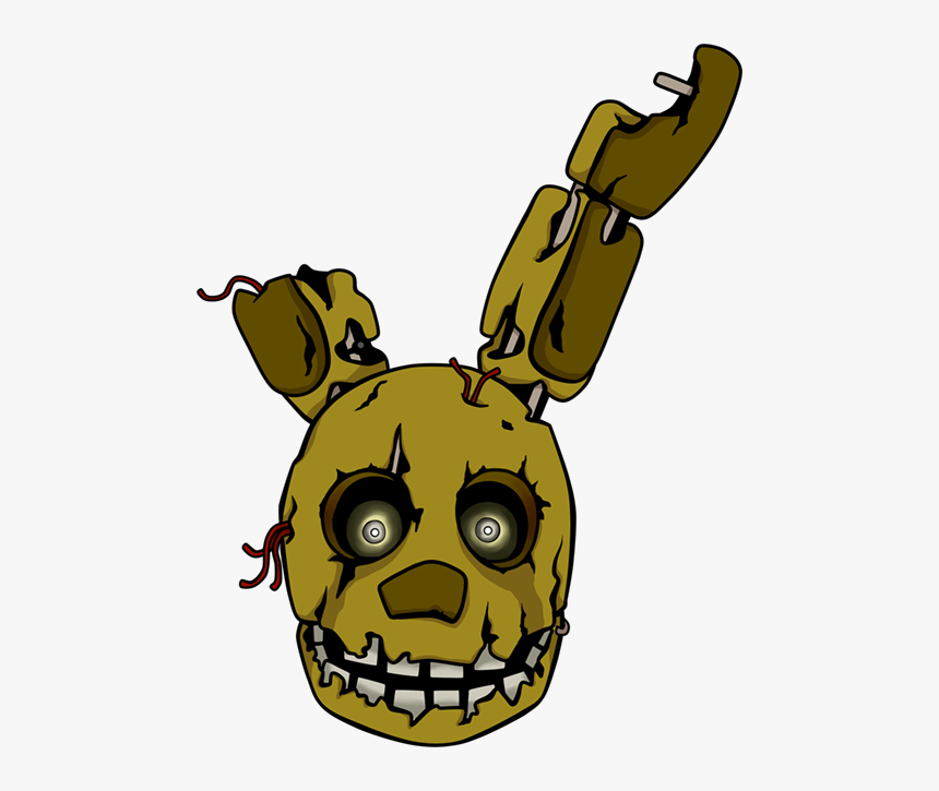 Five Nights At Freddy - Five Nights At Freddy's Springtrap Head, HD Png Download, Free Download