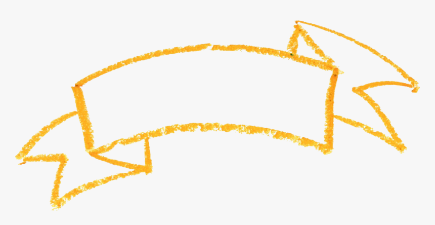 Yellow Ribbon Banner Transparent, HD Png Download, Free Download