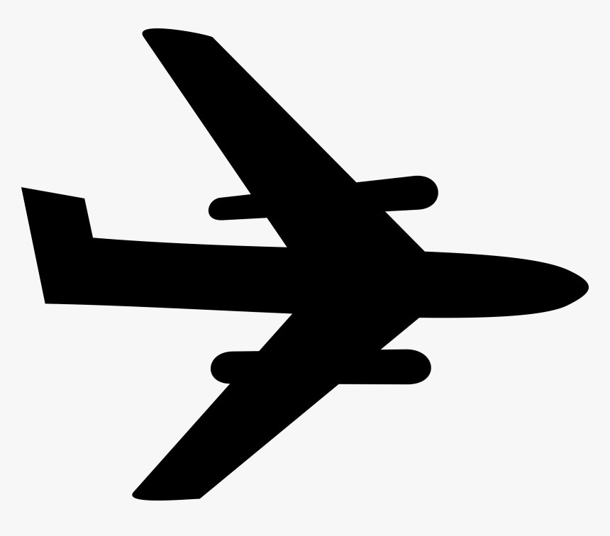 Clipart Airplane Drawing Simple Black Hd Png Download Kindpng