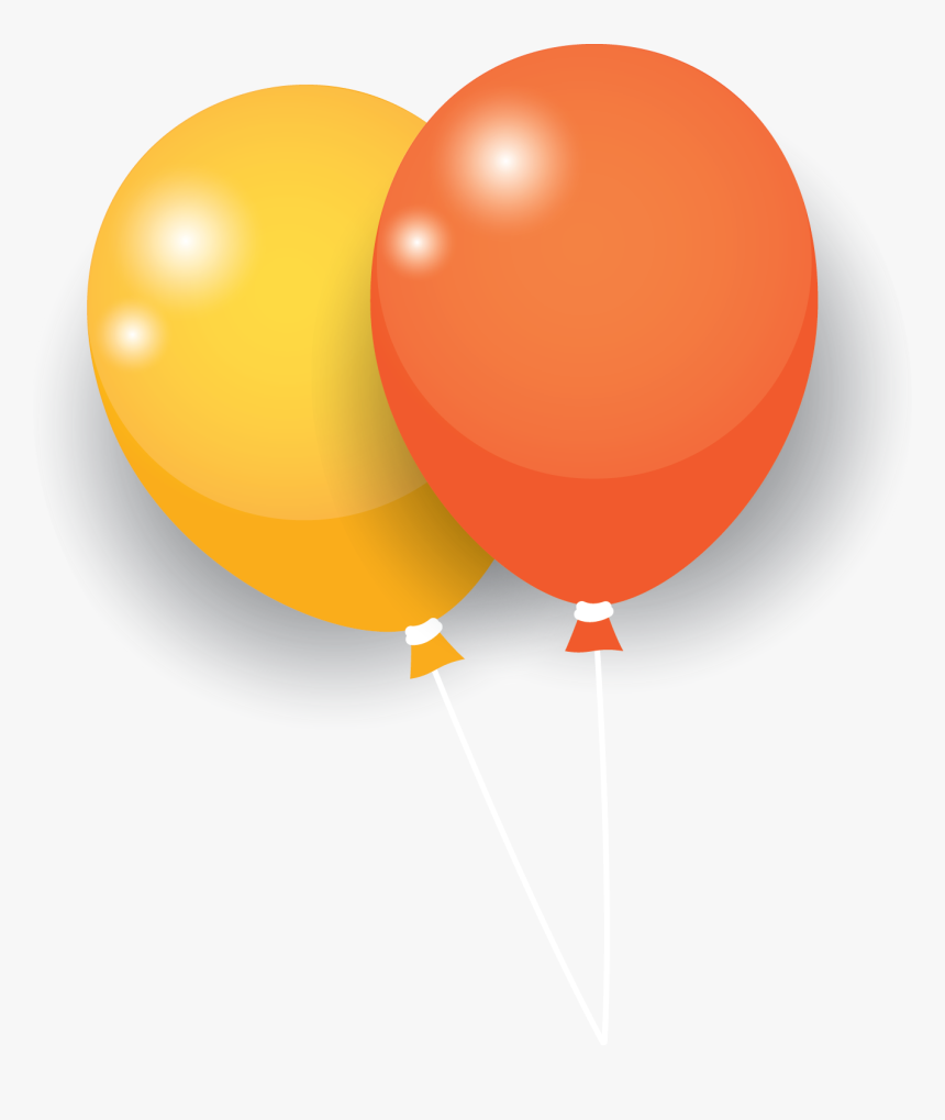 Yellow Orange Balloon - Balloon, HD Png Download, Free Download