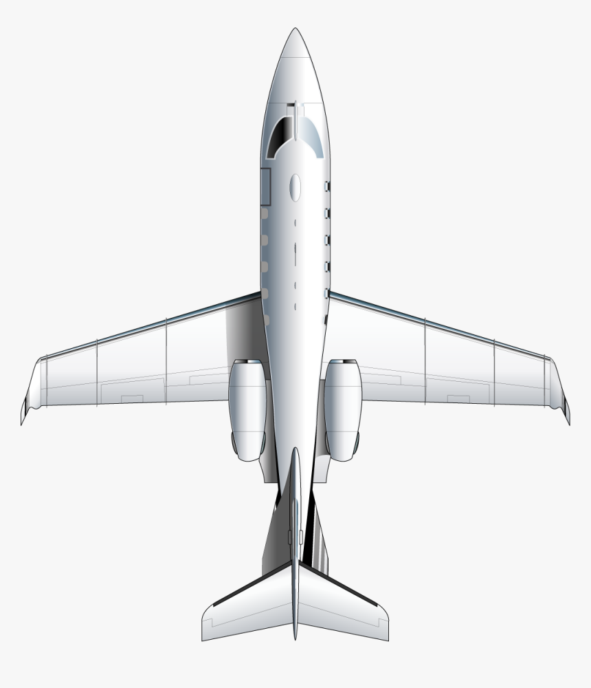 Learjet 31a - Plane Top View Png, Transparent Png, Free Download