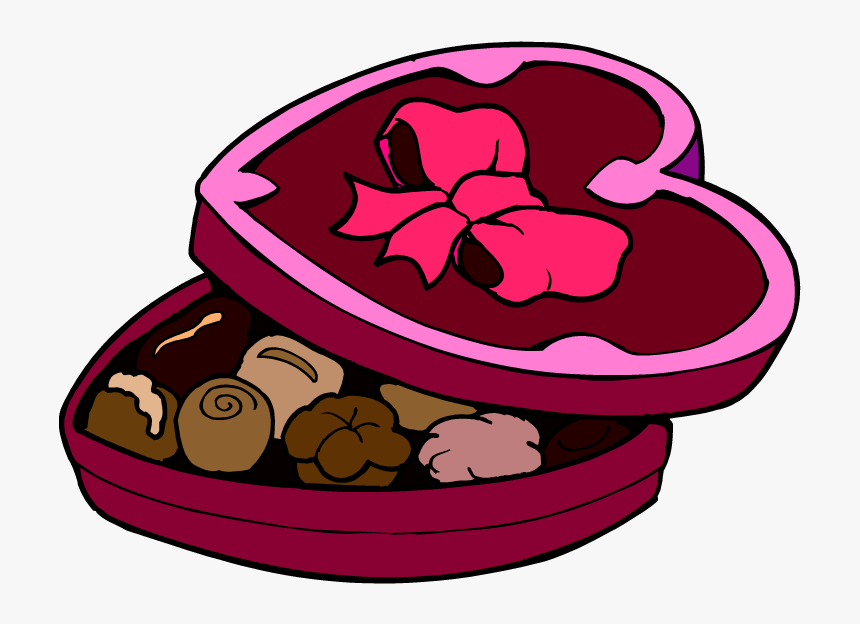 Clip Art Free Images - Valentine Chocolate Clipart, HD Png Download, Free Download