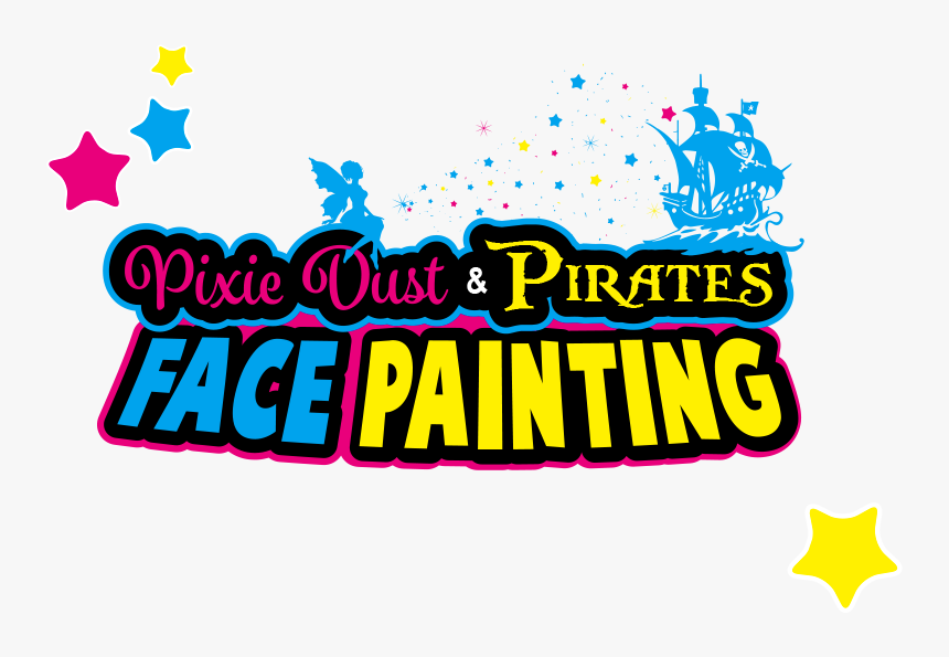 Face Painting Logo For Pixie Dust And Pirates Carlisle - Graphic Design, HD Png Download, Free Download