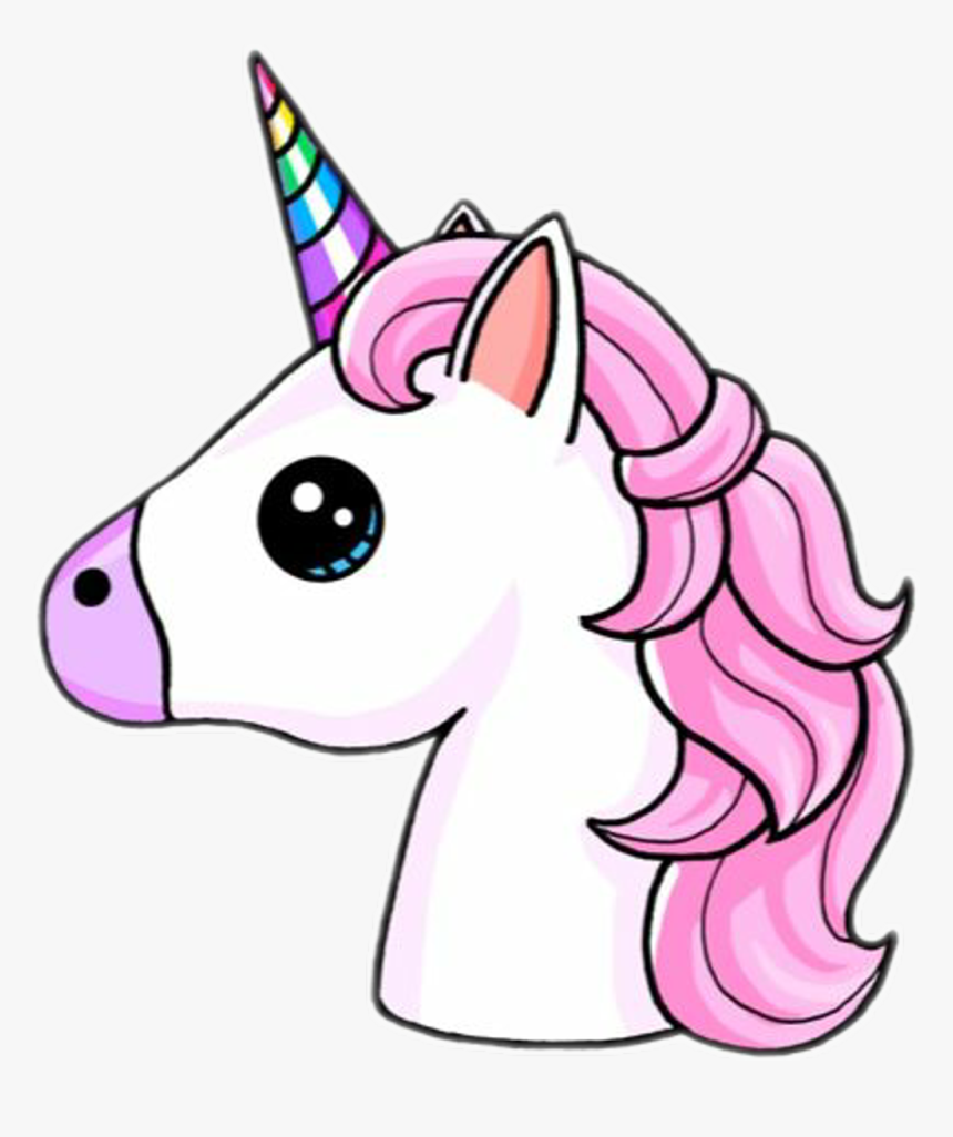 #unicorn #unicorns #emoji #unicornemoji #cuteunicorn - Easy Unicorn Drawing, HD Png Download, Free Download